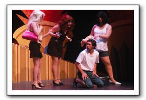 Ryan Schaffer (Joseph) with Ishmalites, Rose Thorne (Paris), Libby Dasbach (Lindsey) and Lauren D. Sinsheimer (Britney)