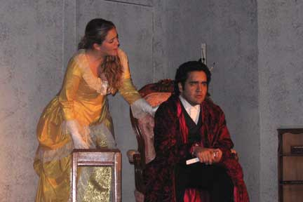 Emma Carew (played by Maggie Burrus) & Dr. Jekyll (played by Nate Rossini)