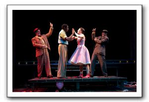 Michael Stone Forrest as Hucklebee, Timothy Ware as Matt, Addi McDaniel as Luisa and Jerome Lucas Harmann as Bellomy