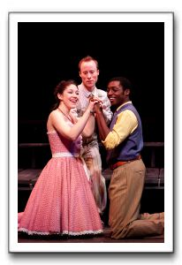 Addi McDaniel as Lusia, Nate Dendy as The Mute and Timothy Ware as Matt