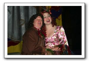 Papageno (Mark Granfois-Hunt) and Papagena (Kate Jackman)
