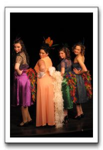 Cara Pellegrino as Mayzie with Jessica Berg, Rachel Meloan, Anna Zimmerman as the Bird Girls