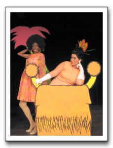 Ivana Alexander as the Sour Kangaroo and Cara Pellegrino as Mayzie