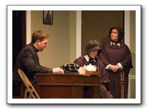 Blake Brophy as Father Flynn; Corinne Brush as Sister James and Adriana A. Hardy as Sister Aloysius