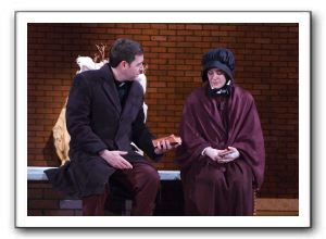 Blake Brophy as Father Flynn and Corinne Brush as Sister Aloysius