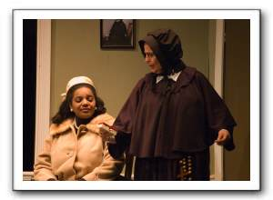 Anissa Parekh as Mrs. Muller and Adriana A. Hardy as Sister Aloysius