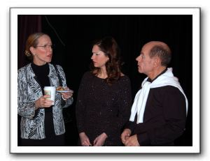Bella (Kate Brown Pernia), Karen (Caroline Blackwell) and Lloyd (Mario Font)