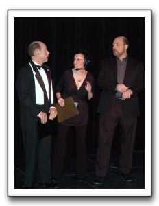Lloyd (Mario Font), Loretta (Mary Franic Dini) and Alex (Carl Nubile)