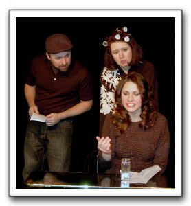 Leo (Nello deBlasio), Monica (Leta Hall) and Karen (Caroline Blackwell)