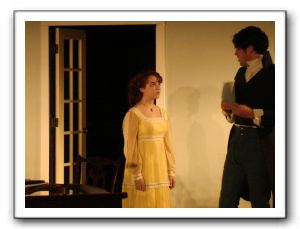 Charlotte Guthery (Thomasina) and Michael Feidt (Septimus) discuss love, chaos, math and poetry