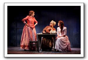 Terry Burrell as Julie, Delores King Williams as Queenie, and Stephanie Waters as Magnolia