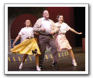 Albert Peterson (Chris Gillespie) and Teen Girls (June Schreiner and Cody Boehm)
