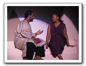 Mereb (Kenneth L. Waters, Jr.) and Aida (Rikki Howie)