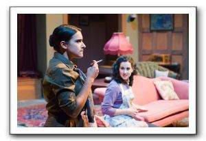 Abby Wood, left, as Miss Casewell, and Jennifer Weinreich, as Mollie Ralston, are among those trying to solve the mystery.