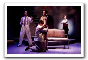 Ken Krugman as Signor Naccarelli, Nicholas Rodriguez as Fabrizio Naccarelli, Ariela Morgenstern as Franca Naccarelli and Mary Gutzi as Signora Naccare
