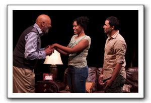 Wendell W. Wright as Joe LeVay, Nikkole Salter as Taylor and Jason Dirden as Kent