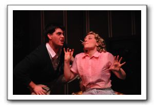 Sam Nystrom (Ralph) and Jaclyn Young (Mary Lane) -