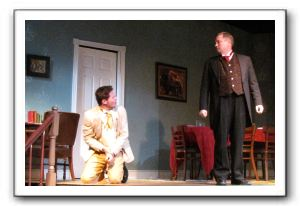 Brandon Dawson as James Keller and Evan Jones as Captain Keller