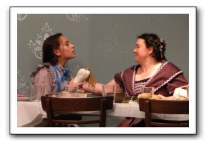 Mackenzie Earl as Helen Keller and Teena Stevic as Aunt Ev