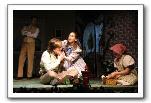 Kirk Noe as Percy, Mackenzie Earl as Helen Keller, and Sammi Anderson as Martha