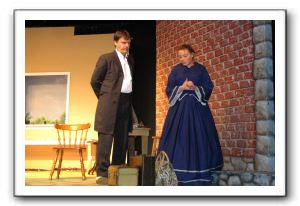 Gary Parsons as Dr. Anagnos and Sarah LaFantasie as Annie Sullivan