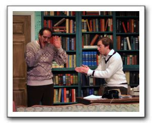 Bob Kleinberg as Leo and Zachary Brewster-Geisz as George