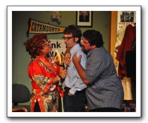 Jayne L. Victor (Gina), Jimmy Gertzog (Jim), and Michael Donahue (Ray)