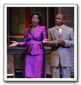 Mary Millben as Sister Pauletta Denise Jones and John McClure, Jr. as Pastor Harold P. Jones