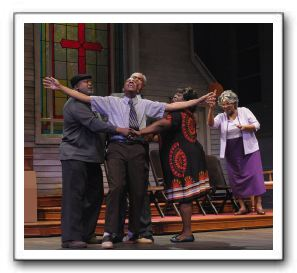 William T. Newman, Jr. as Sir, Ellis Foster as Bobby, Frederick Strother as Deacon, Almonica Caldwell as Clara, and Bernardine Mitchell as Sarah
