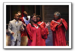 John McClure, Jr. as Pastor Harold P. Jones, Ellis Foster as Bobby, Ashley Jeudy as Monique, Almonica Caldwell as Clara, and Bernardine Mitchell as Sa