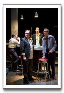 (l to r) Scot McKenzie as Mickey, Matt Dewberry as Sweets, Dylan Myers as Skinny, and Danny Gavigan (back) as Potts