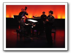 Ephriam Wolfolk, Celso Lopez, Marshall Keys, and Burnett Thompson, originating musical director on piano