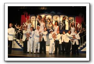 The cast of Anything Goes in Blow Gabriel