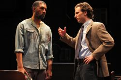 Dion Graham as Carl Lee Hailey and Sebastian Arcelus as Jake Brigance