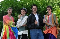 Lead Actor in a Musical - Ricky Drummond (Bishop Ireton), Andy Raoufi (Herndon), Jake Miller (Paul VI), Kevin Clay (Westfield). Not pictured: Ben Mitchell (St. Andrew's Episcopal School)