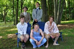 Lead Actor in a Play - back: Ty Sheedlo (Dominion), Charlie Belt (Marshall), front: Jeffrey Davis (Stone Bridge), Brennan Jones (Falls Church), Keegan Cotton (Thomas Jefferson)