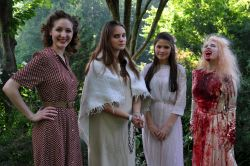 Lead Actress in a Play - Amanda Miesner (Chantilly), Elena Lagon (Thomas Jefferson), Virginia Tucker (St. Stephen's and St. Agnes), Ilana Naidamast (Lake Braddock). Not pictured: Maria Simpkins (T.C. Williams)