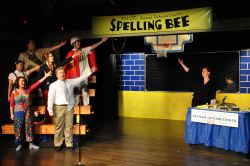 The cast of The 25th Annual Putnam County Spelling Bee sings the opening number.