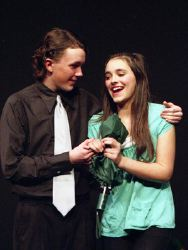 Thomas Kelty ('Prince Charming') and Abby Huston ('Cinderella')