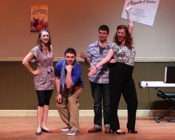 Sharon Grant (Heidi), Josh Goldman (Hunter), Scott Harrison (Jeff), and Anne Marie Pinto (Susan)