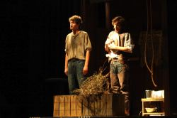 Ari Veach as Jud, Henry Ragan as Curly