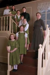 Capt. von Trapp - David Johnson; Maria - Sarah Jane Scott; the von Trapp children: top to bottom- David Capen, Kimberly Geipel, Lexi Frilles (understudy), Tommy Richman, Rachel Rollins, Brooke Miller, Jamie Unrath