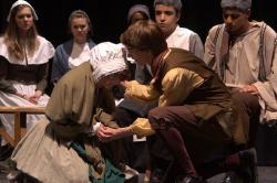 Malaika Murphy-Sierra (Mary Warren) and Keegan Cotton (John Proctor)