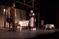 Keegan Cotton (John Proctor) and Rebecca Edelstein (Abigail Williams)