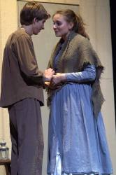 Keegan Cotton (John Proctor) and Elena Lagon (Elizabeth Proctor)