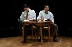 Kevin O'Reilly as Director Bernie Dodd and Arturo Tolentino as Larry