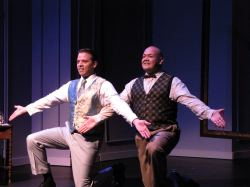Robert, the Bride Groom (Danny McKay) and the Best Man, George (Mark Hidalgo)