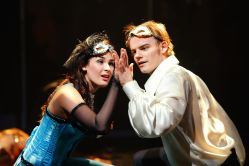 Natalie Berk as Juliet and Alex Mills as Romeo