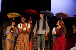 Zoe Haynes, Alex Carroll-Cabanes, and Maggie Roos along with Fagin's Gang