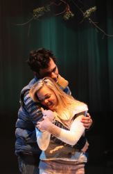 Pete (Elliot Kashner) and Ginette (Jessica Shearer) embrace
